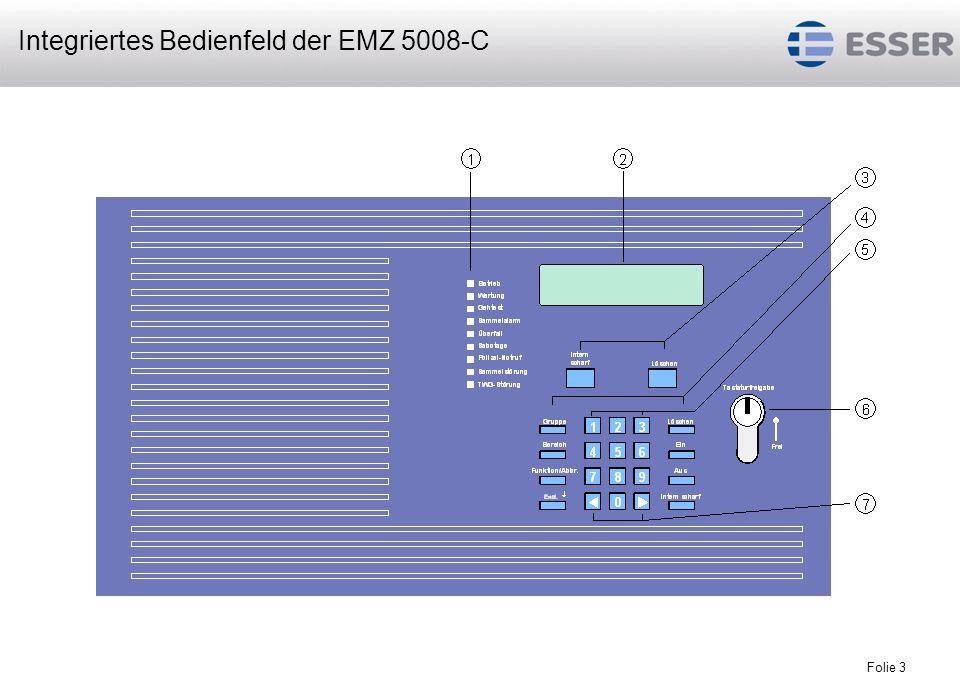 Integriertes Bedienfeld der EMZ 5008-C