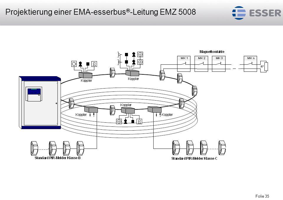 Projektierung einer EMA-esserbus-Leitung EMZ 5008