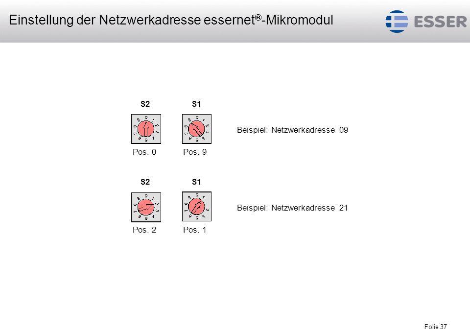 Einstellung der Netzwerkadresse essernet-Mikromodul