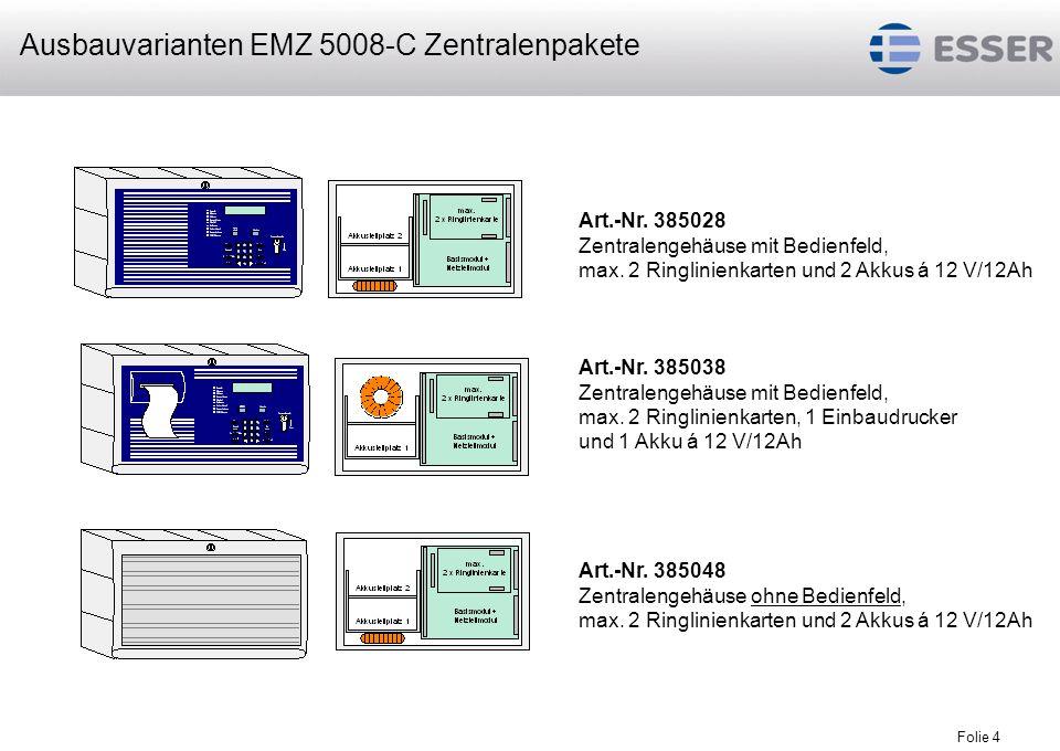 Ausbauvarianten EMZ 5008-C Zentralenpakete