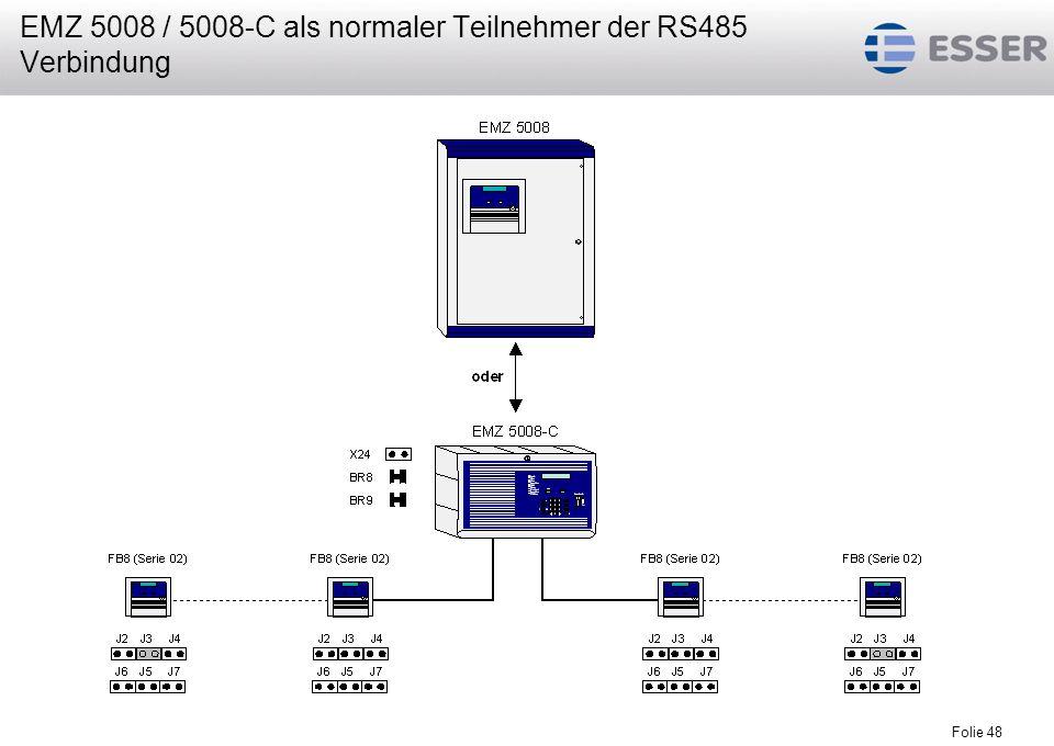 EMZ 5008 / 5008-C als normaler Teilnehmer der RS485 Verbindung