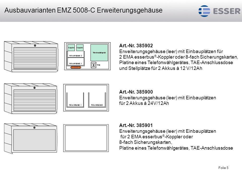 Ausbauvarianten EMZ 5008-C Erweiterungsgehäuse
