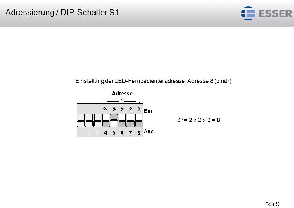 Adressierung / DIP-Schalter S1