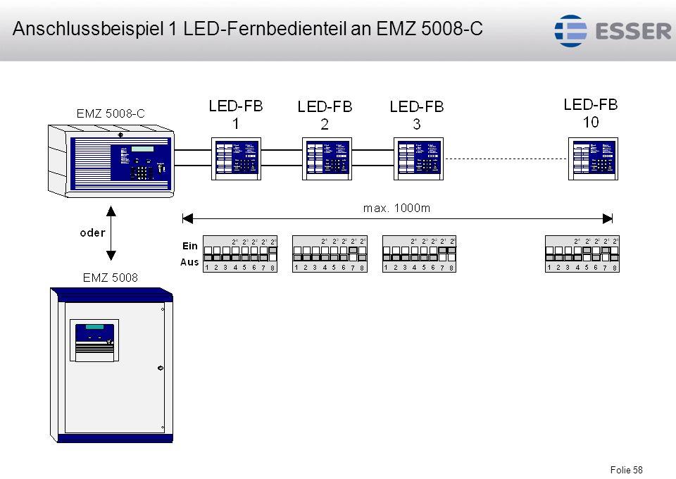 Anschlussbeispiel 1 LED-Fernbedienteil an EMZ 5008-C