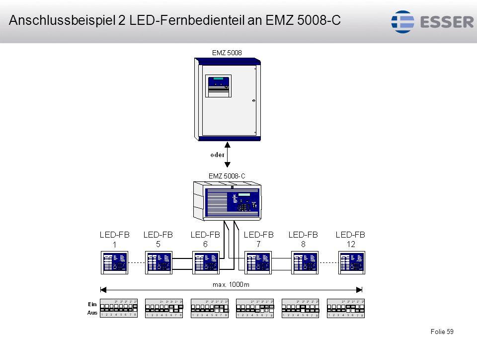 Anschlussbeispiel 2 LED-Fernbedienteil an EMZ 5008-C