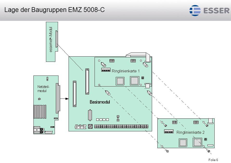 Lage der Baugruppen EMZ 5008-C