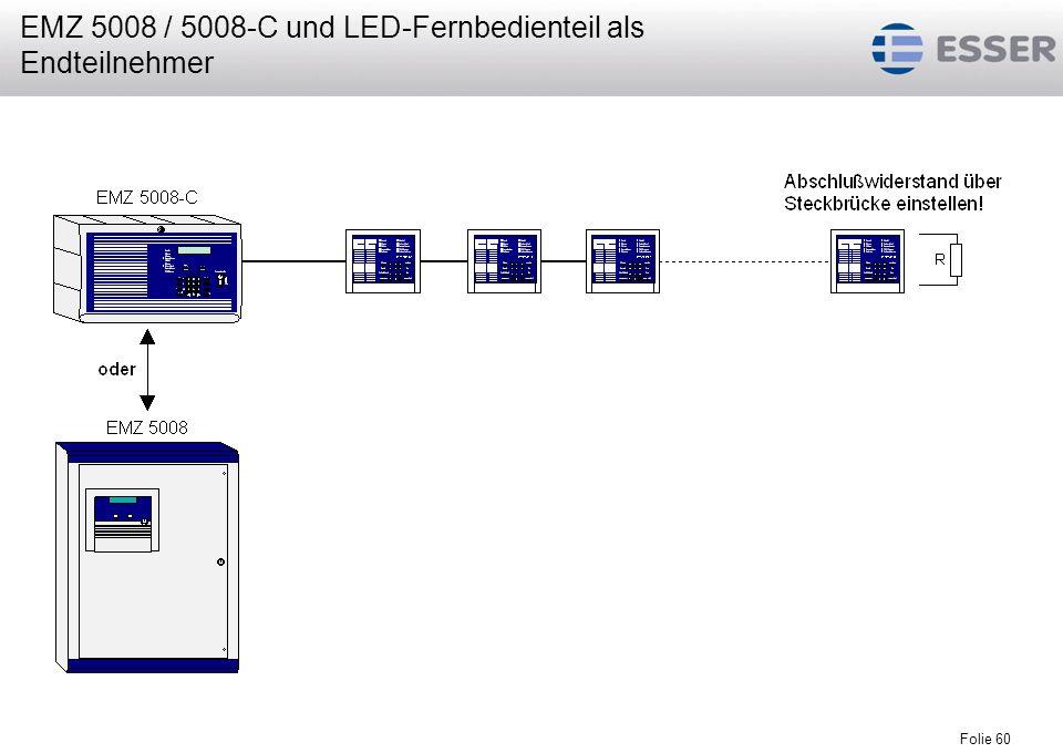 EMZ 5008 / 5008-C und LED-Fernbedienteil als Endteilnehmer