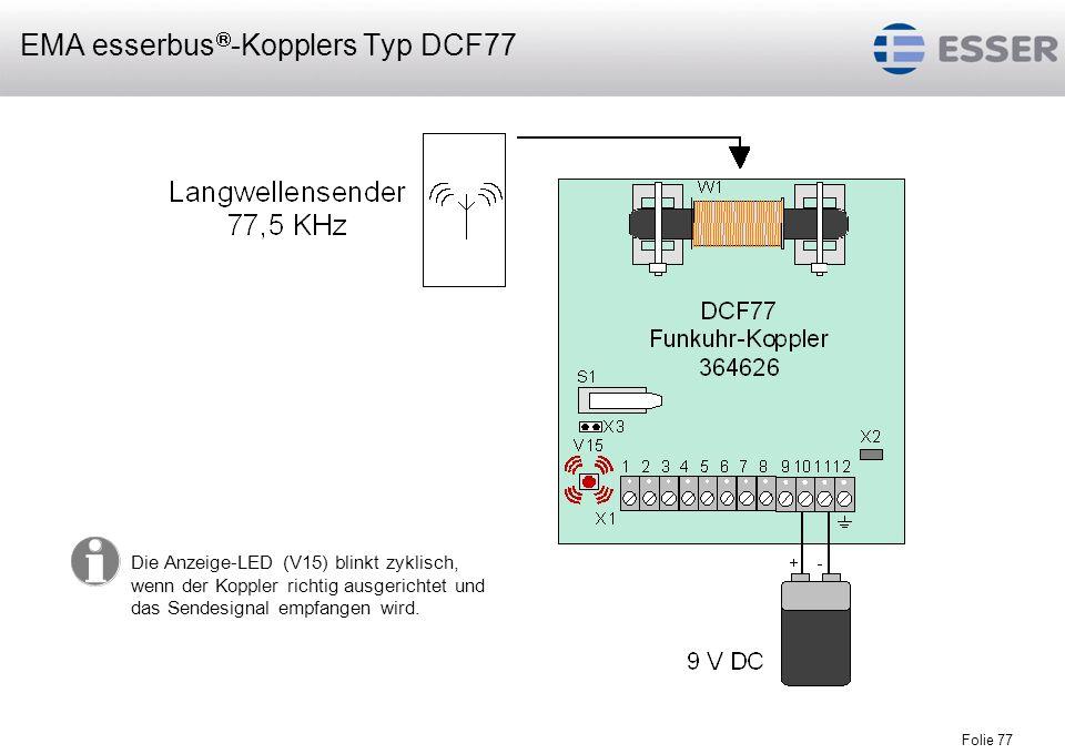 EMA esserbus-Kopplers Typ DCF77