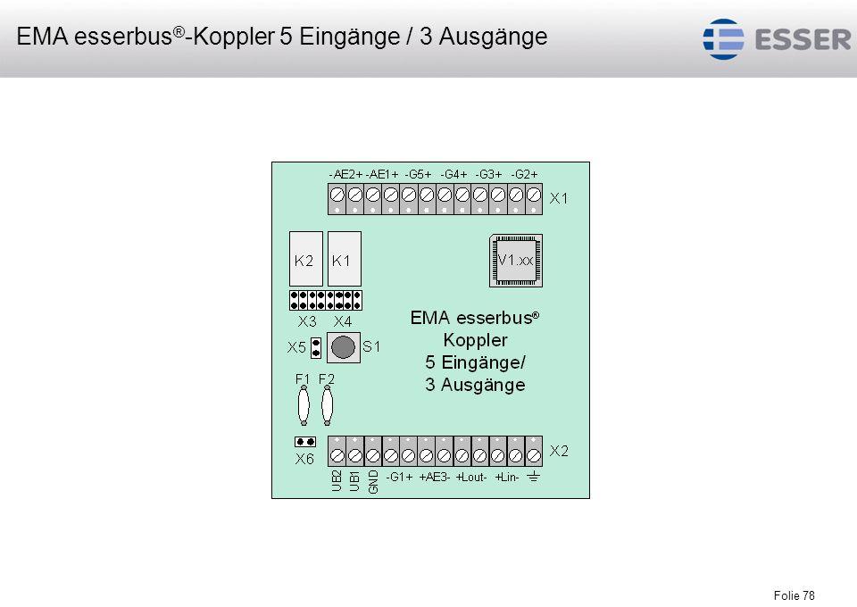 EMA esserbus®-Koppler 5 Eingänge / 3 Ausgänge