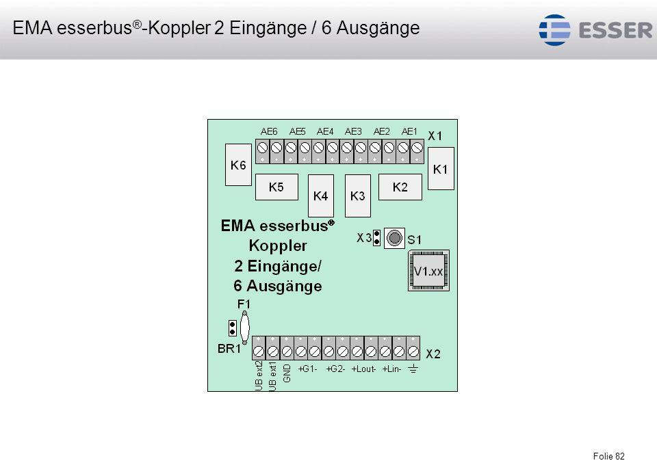 EMA esserbus®-Koppler 2 Eingänge / 6 Ausgänge