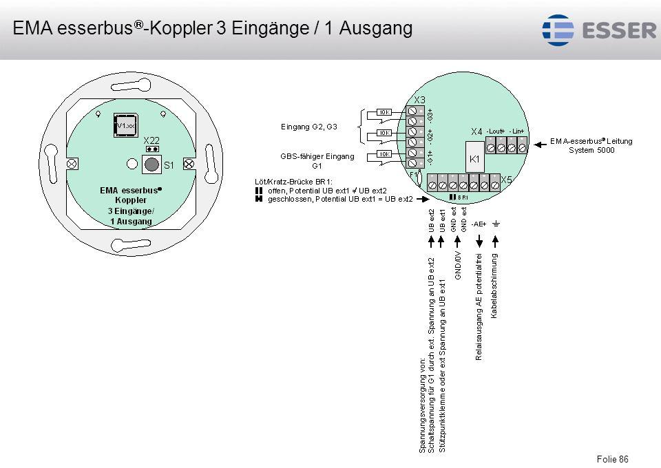 EMA esserbus-Koppler 3 Eingänge / 1 Ausgang