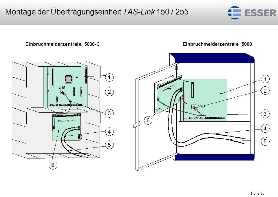Montage der Übertragungseinheit TAS-Link 150 / 255