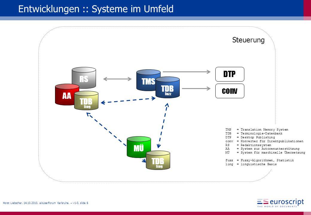Entwicklungen :: Systeme im Umfeld
