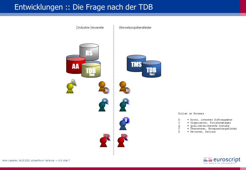 Entwicklungen :: Die Frage nach der TDB