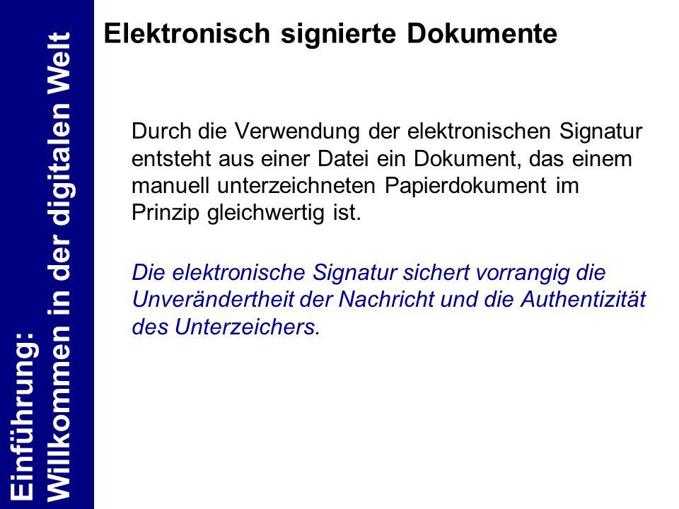 Elektronisch signierte Dokumente