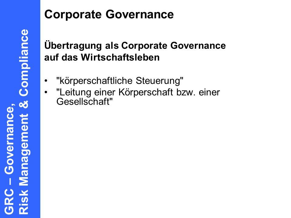 GRC – Governance, Risk Management & Compliance
