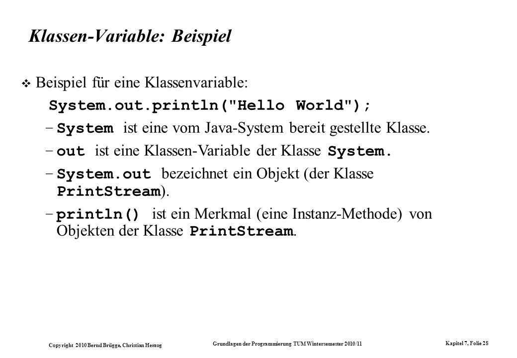 Klassen-Variable: Beispiel