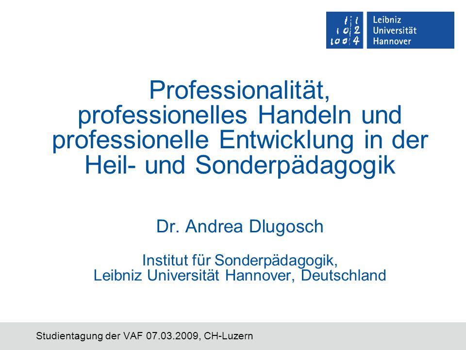 Studientagung der VAF 07.03.2009, CH-Luzern