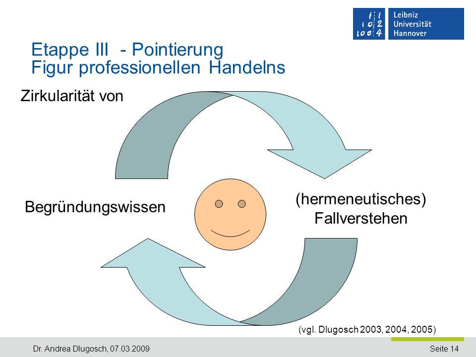 Etappe III - Pointierung Figur professionellen Handelns
