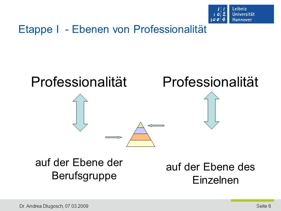 Etappe I - Ebenen von Professionalität