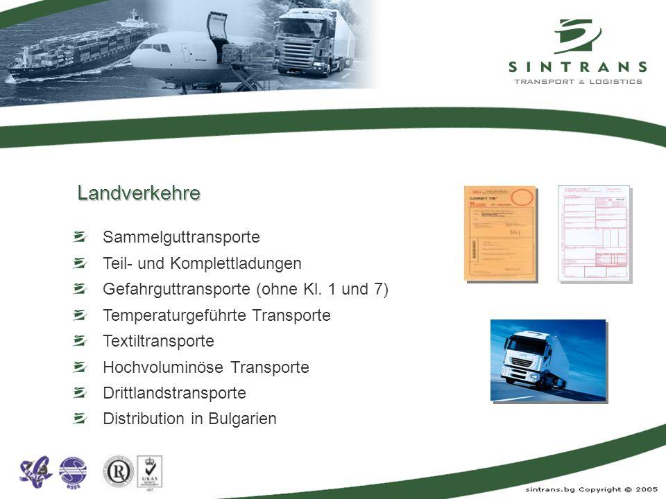Landverkehre Sammelguttransporte Teil- und Komplettladungen