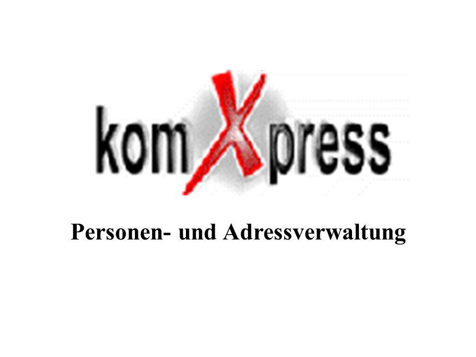 Personen- und Adressverwaltung
