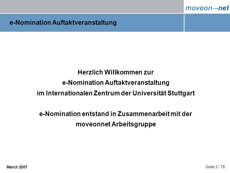 e-Nomination Auftaktveranstaltung