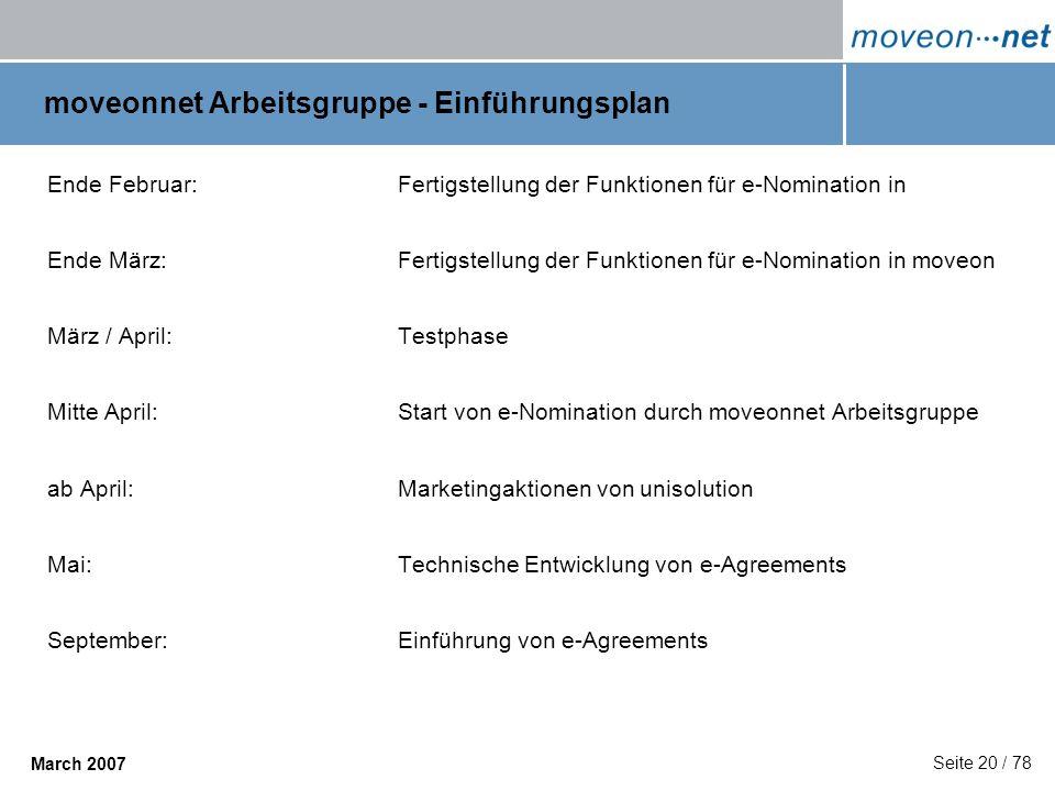 moveonnet Arbeitsgruppe - Einführungsplan