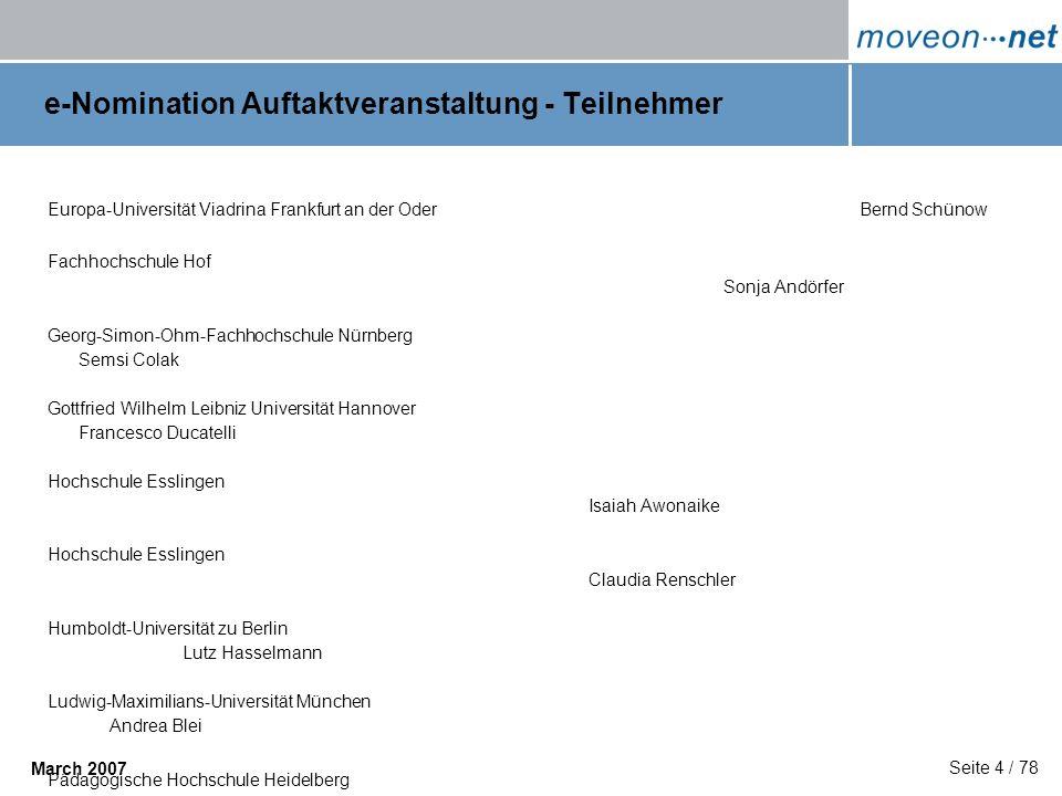 e-Nomination Auftaktveranstaltung - Teilnehmer