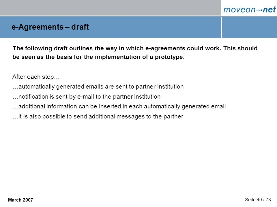 e-Agreements – draft