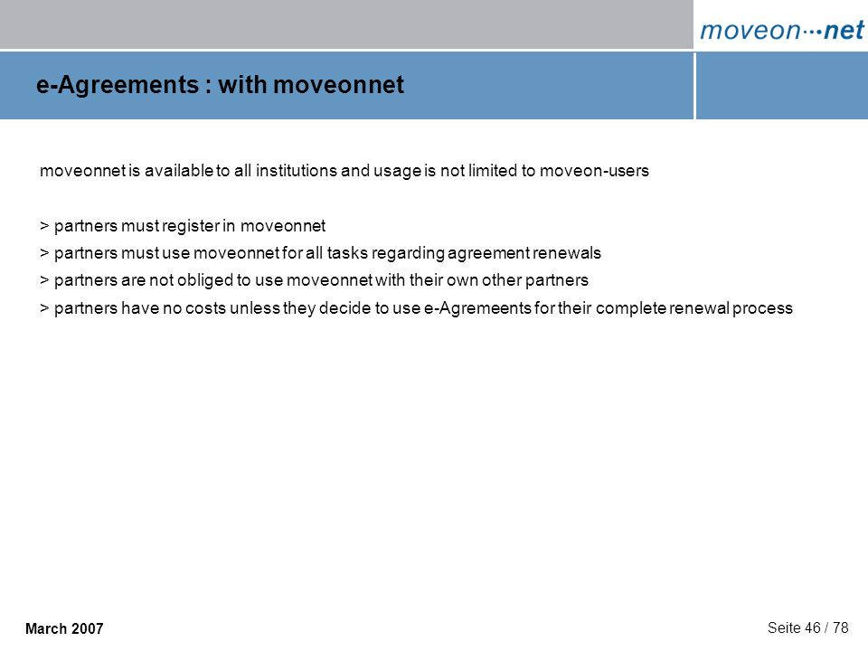 e-Agreements : with moveonnet