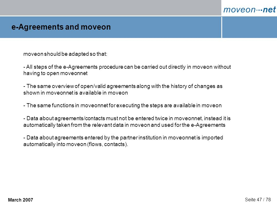 e-Agreements and moveon