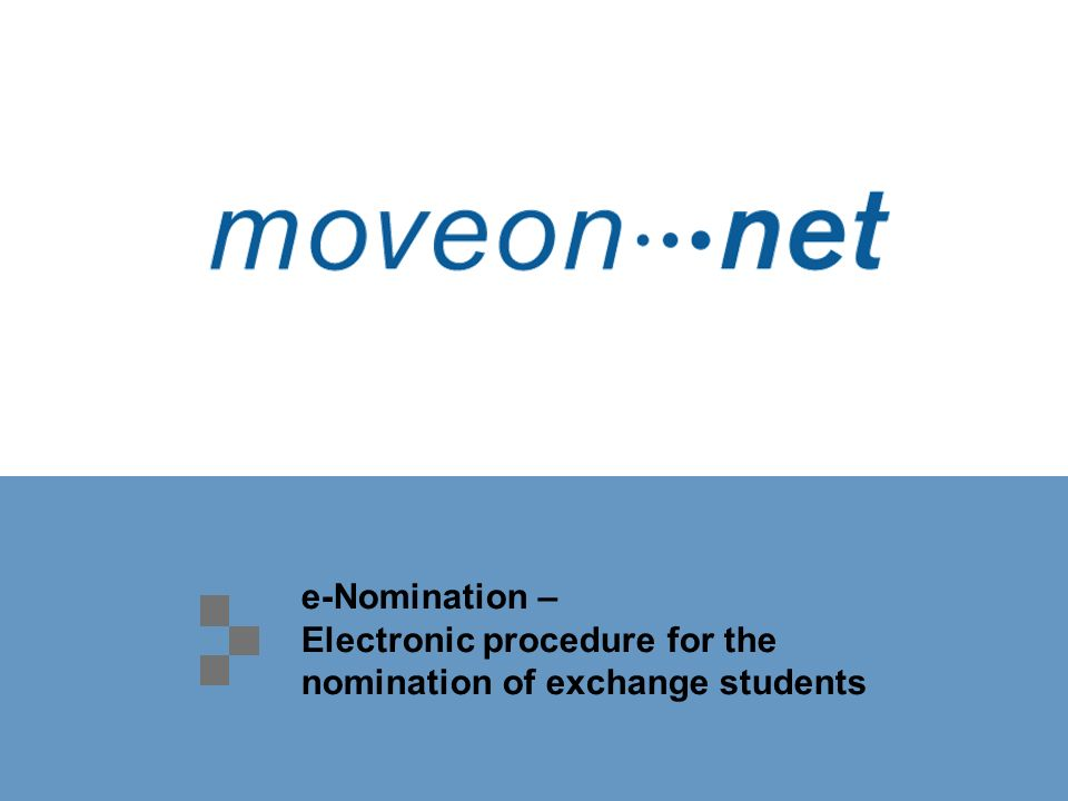e-Nomination – Electronic procedure for the nomination of exchange students