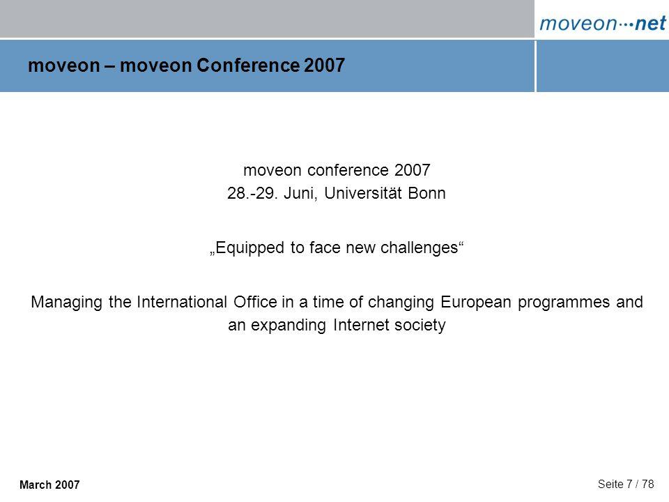 moveon – moveon Conference 2007