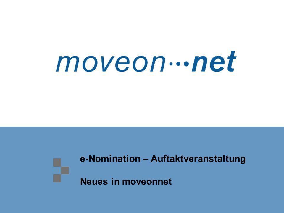 e-Nomination – Auftaktveranstaltung Neues in moveonnet