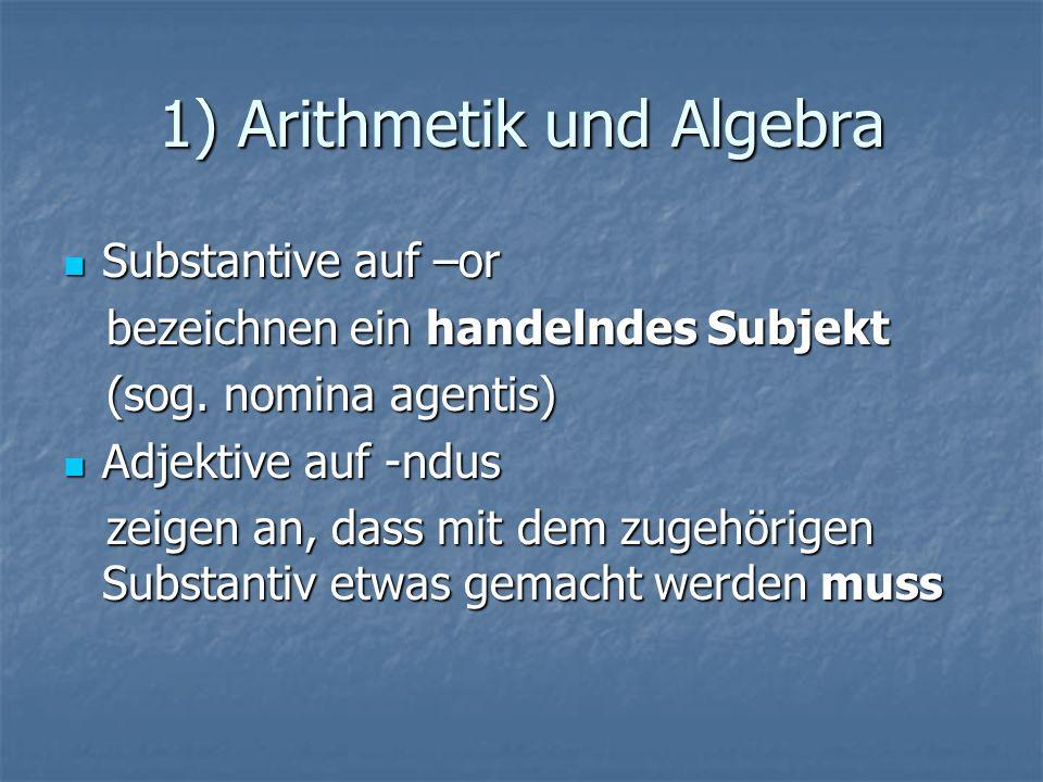 1) Arithmetik und Algebra