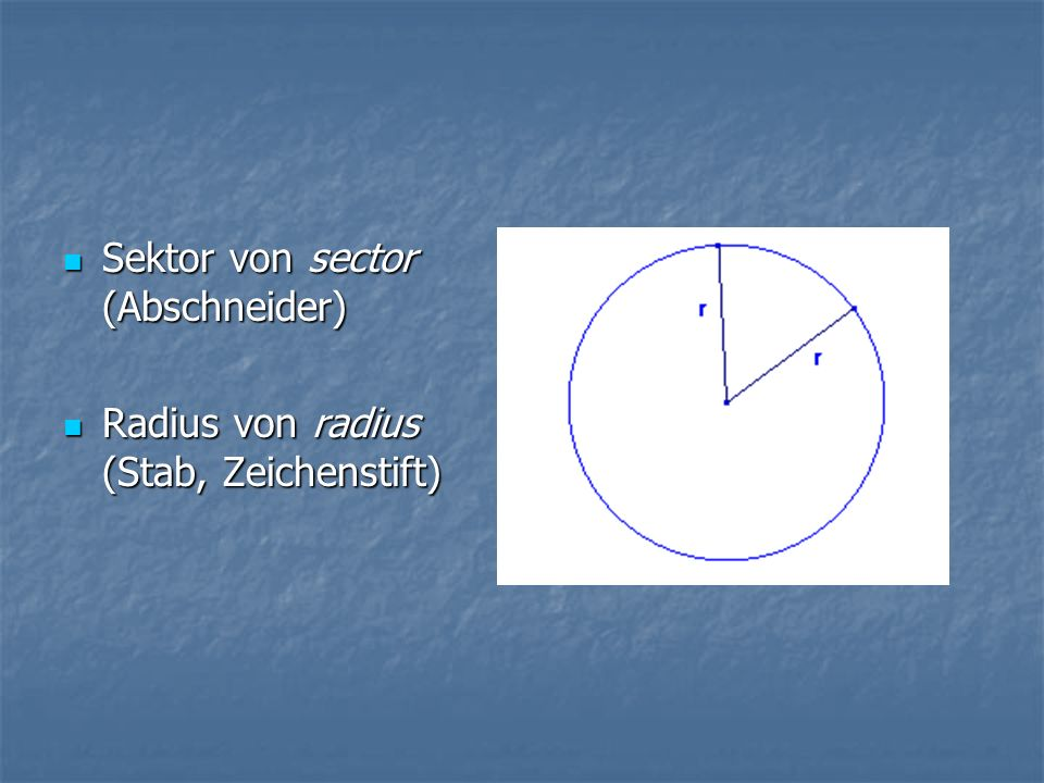 Sektor von sector (Abschneider)