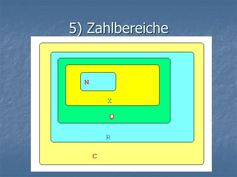 5) Zahlbereiche