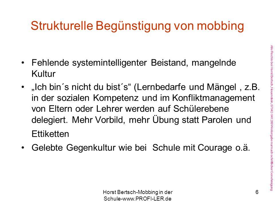 Strukturelle Begünstigung von mobbing