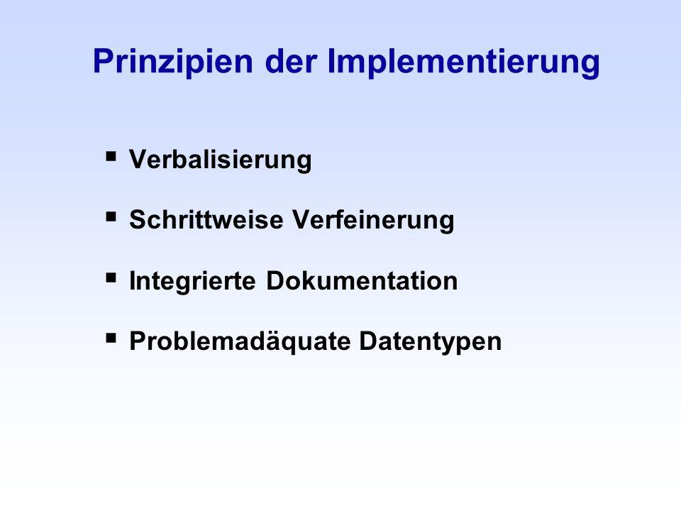 Prinzipien der Implementierung