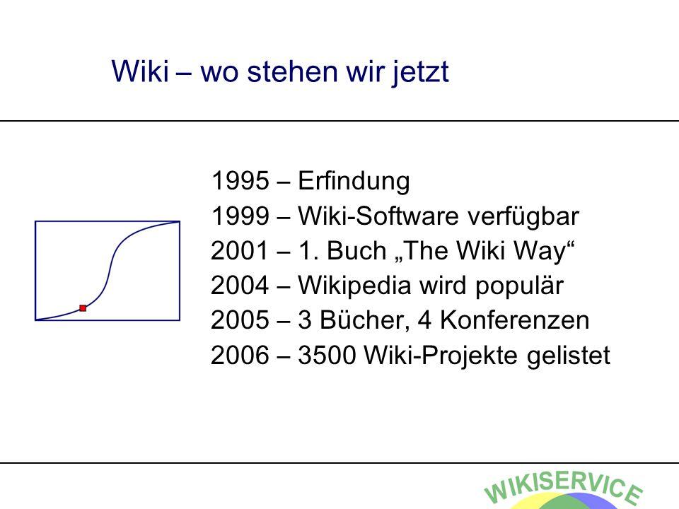 Wiki – wo stehen wir jetzt