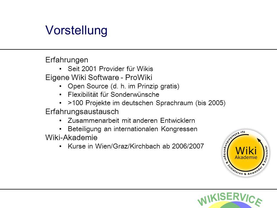 Vorstellung Erfahrungen Eigene Wiki Software - ProWiki