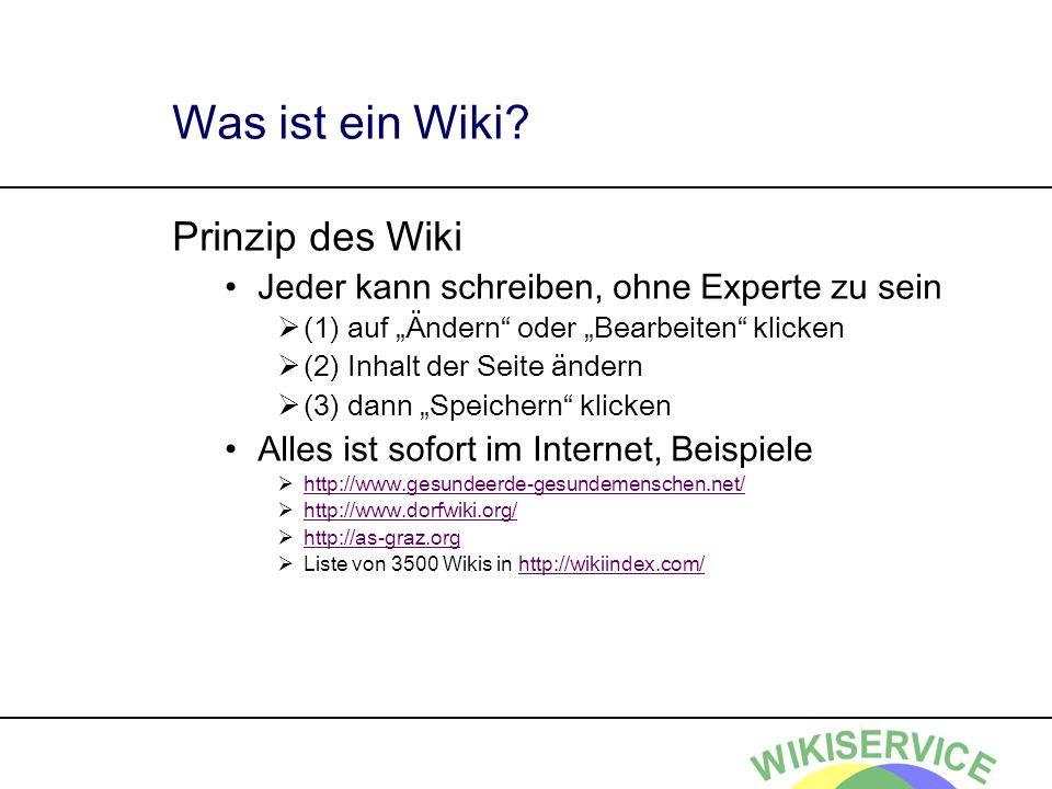 Was ist ein Wiki Prinzip des Wiki