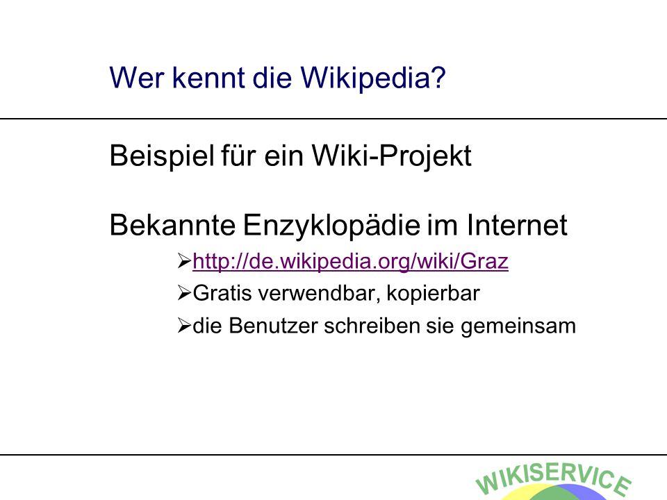 Wer kennt die Wikipedia
