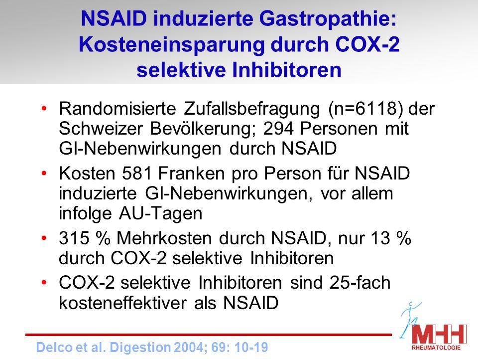 NSAID induzierte Gastropathie: Kosteneinsparung durch COX-2 selektive Inhibitoren