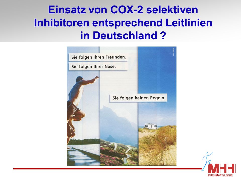 Einsatz von COX-2 selektiven Inhibitoren entsprechend Leitlinien in Deutschland