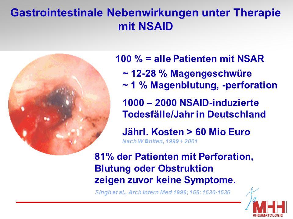 Gastrointestinale Nebenwirkungen unter Therapie mit NSAID