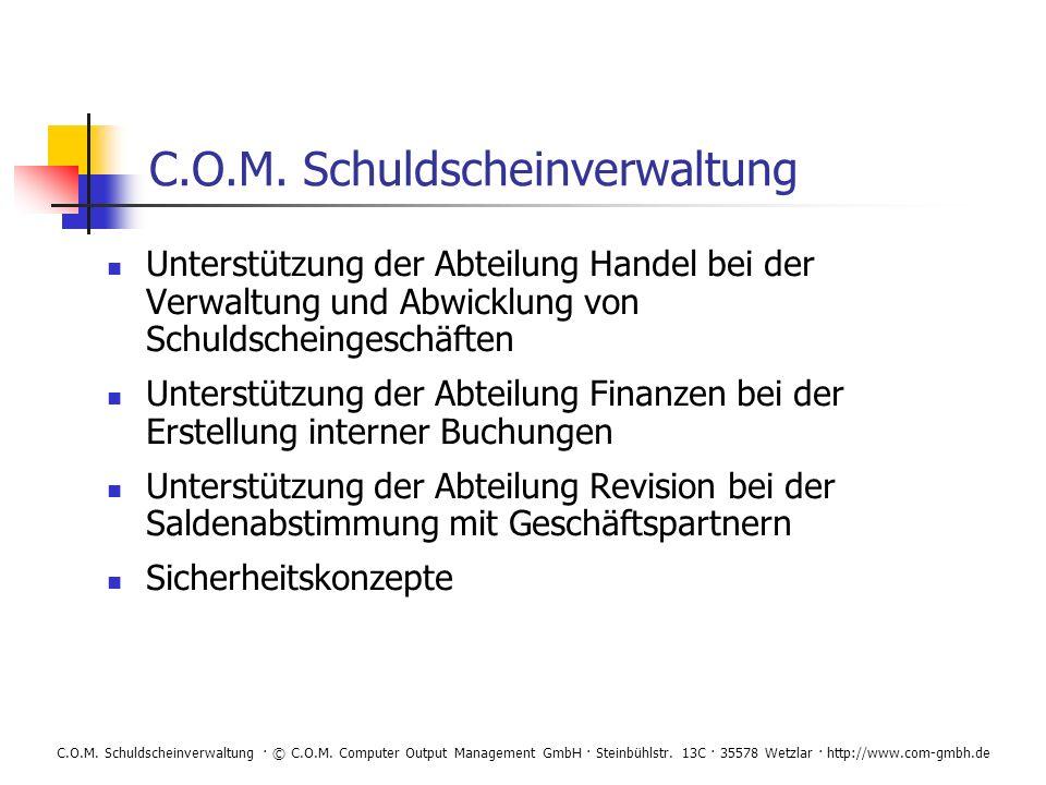 C.O.M. Schuldscheinverwaltung