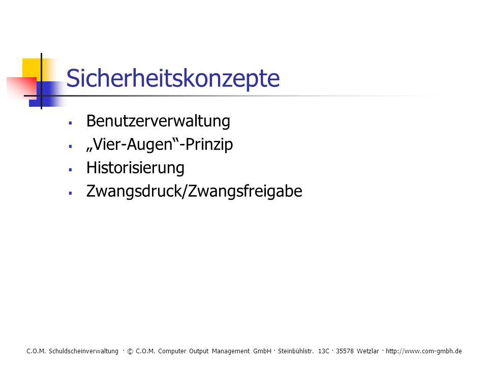 """Sicherheitskonzepte Benutzerverwaltung """"Vier-Augen -Prinzip"""