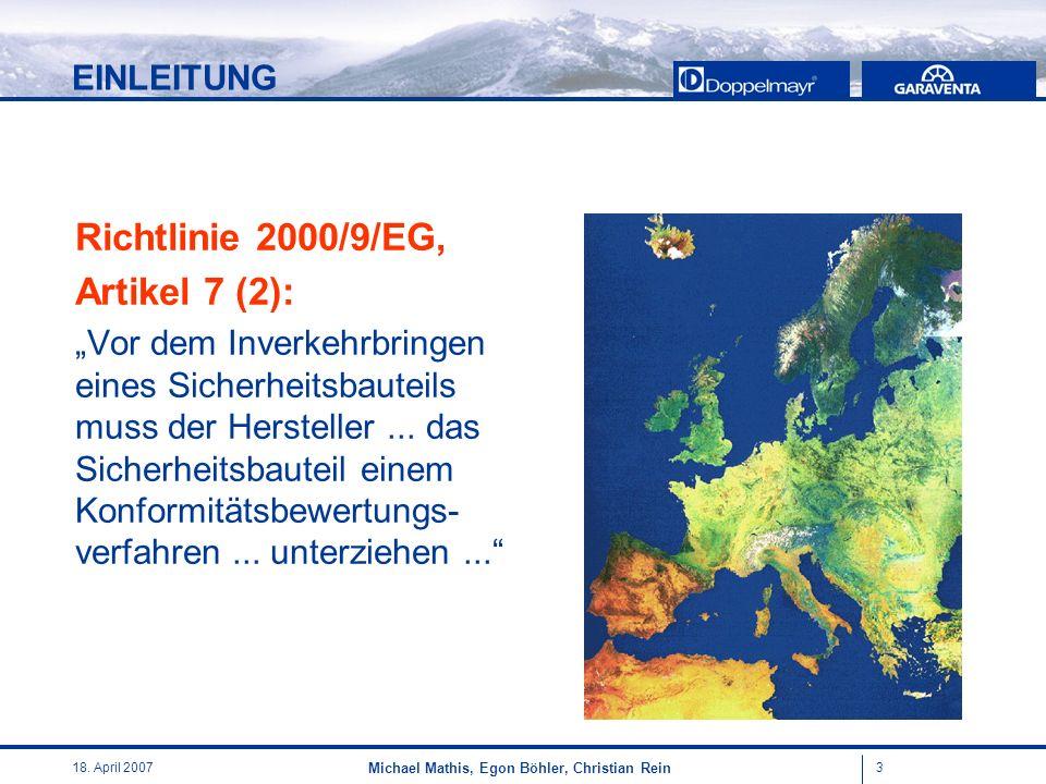 Richtlinie 2000/9/EG, Artikel 7 (2): EINLEITUNG